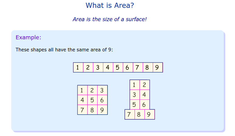 Area/Perimeter - 4th Grade Website